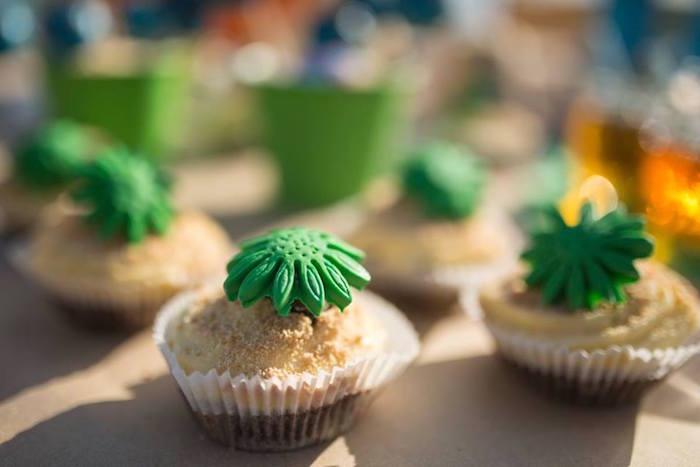 fiesta tropical en la playa muffins