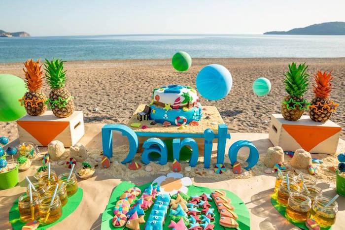 Resultado de imagen para fiesta infantil en la playa
