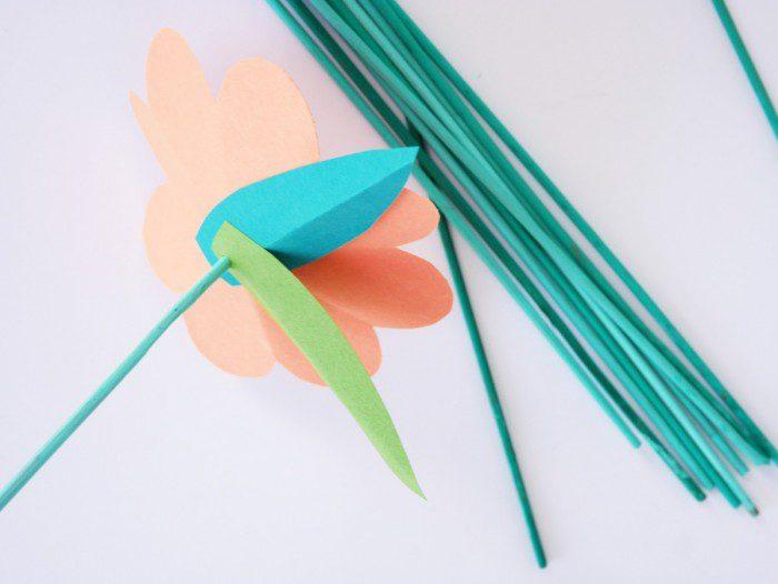 flores de colores hechas a mano para la primavera hacer la flor