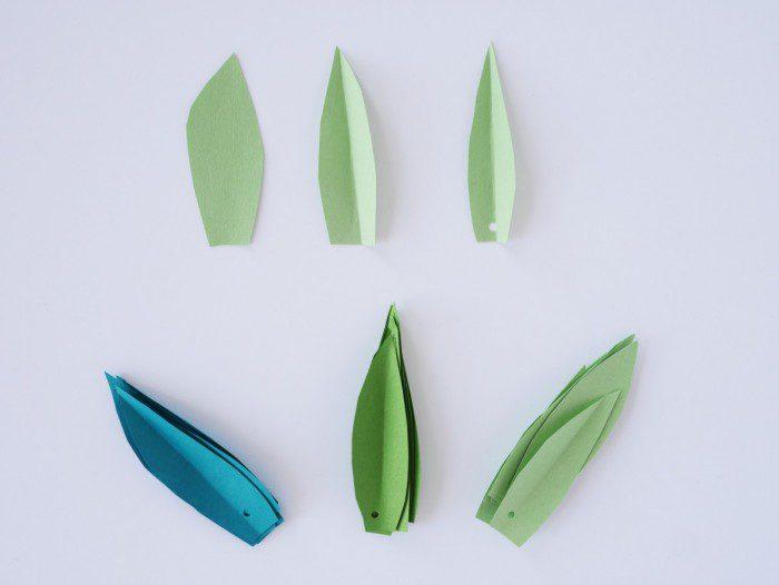 flores de colores hechas a mano para la primavera las hojas