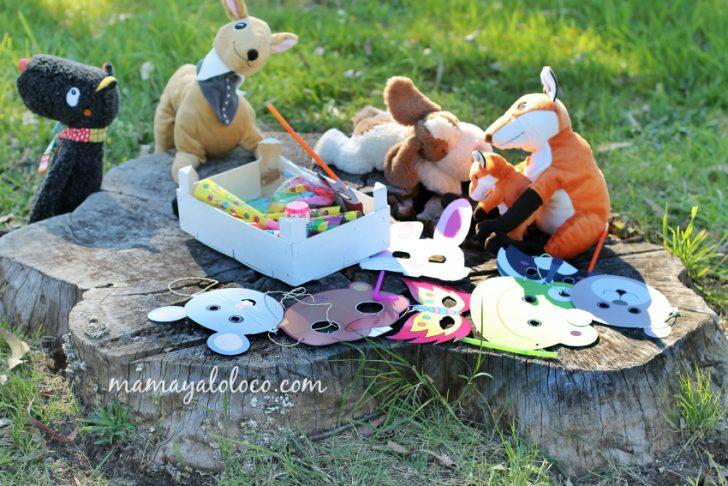 ideas para cumpleaños de niños pequeños con animales y mascaras