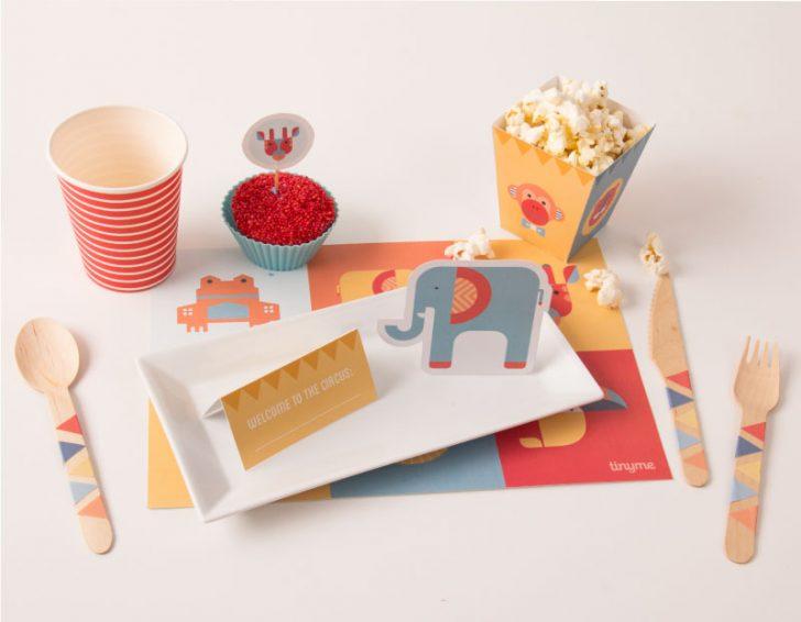 imprimible para fiesta infantil de circo mesa dulce