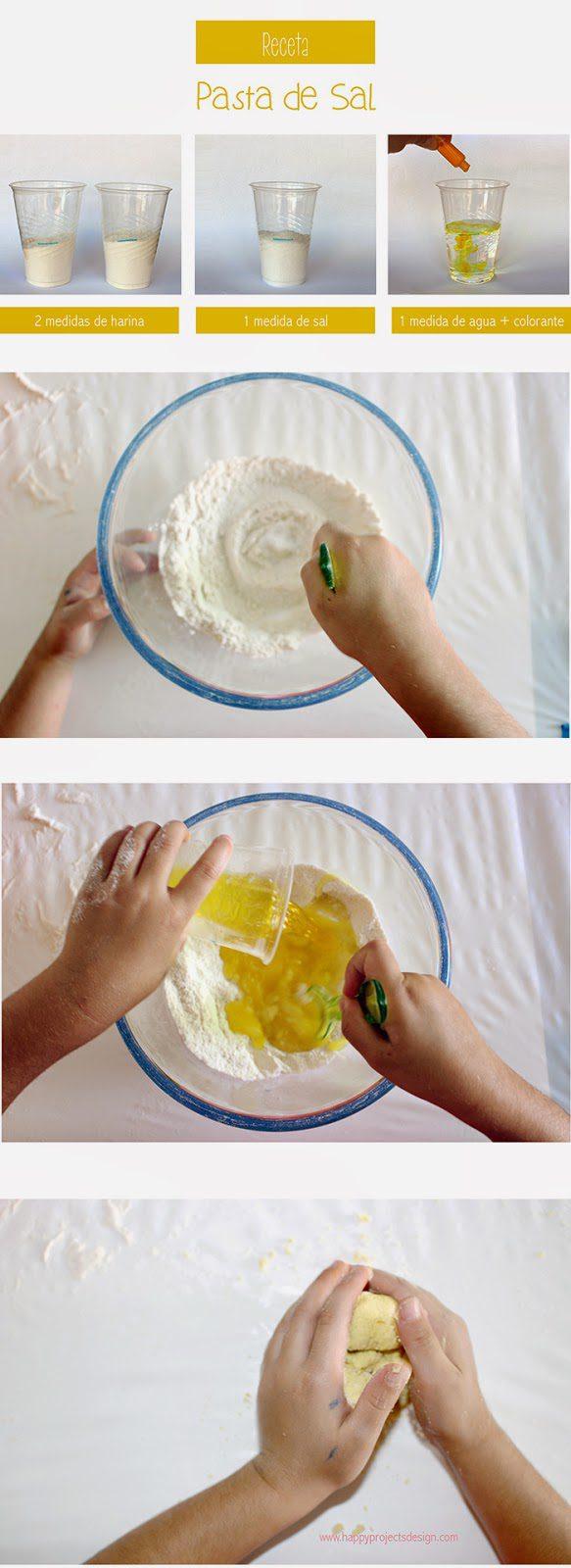 pasata de sal casera hecha a mano para niños como se hace