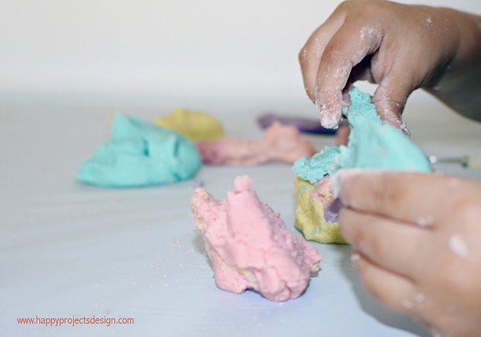 pasata de sal casera hecha a mano para niños manualidades infantiles
