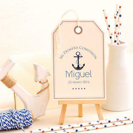 recordatorio de primera comunion para niños ancla marinero