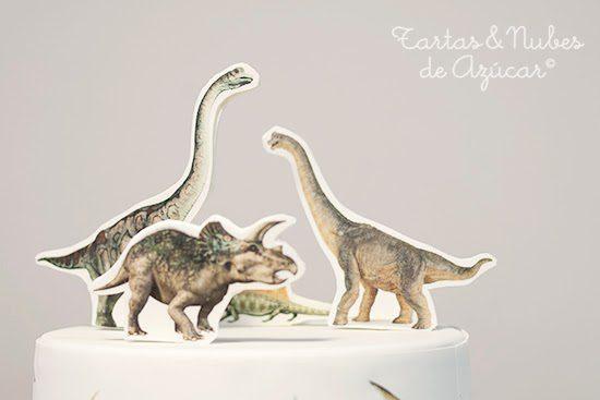 tarta de dinosaurios para cumpleaños infantil