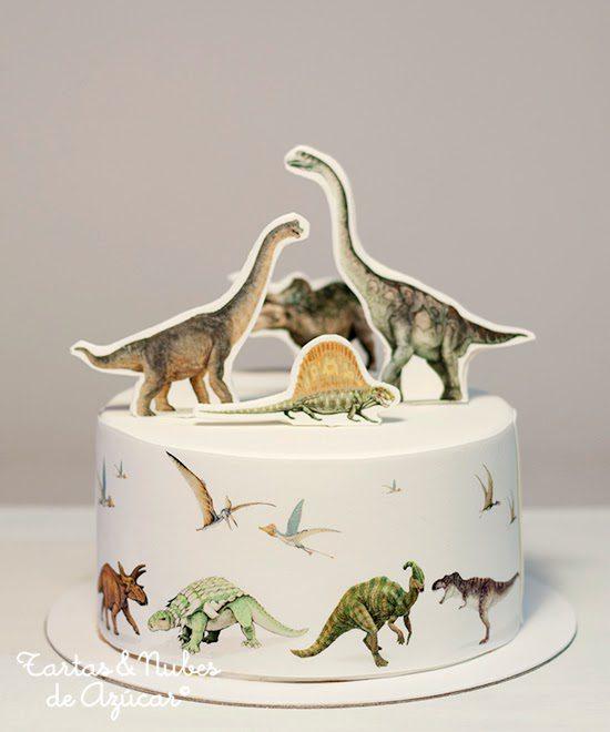 Tarta de Dinosaurios para Niños