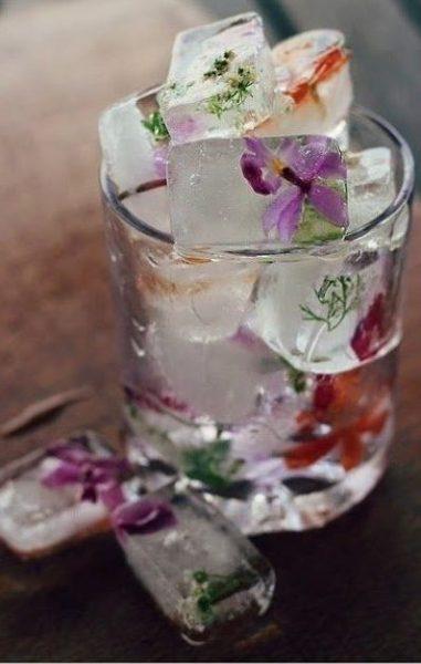 Ideas originales cubitos de hielo. Flores