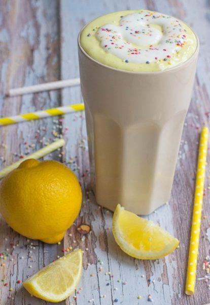 Receta de Batido Casero de Limón Multicolor