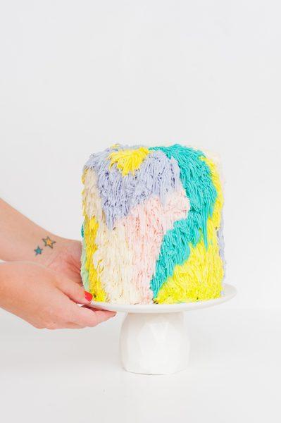 Receta tartas originales. Monster Colorin Primer paso