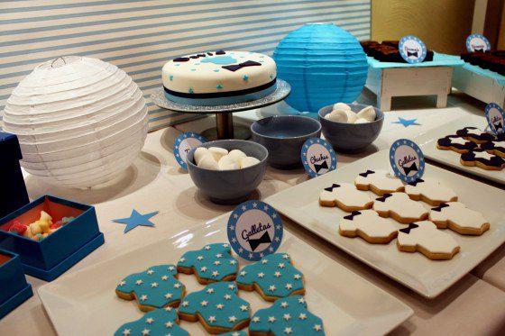 bautizo en azul para niño fiesta infantil