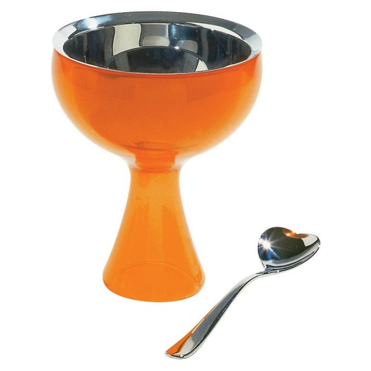 boles y recipientes copa alessi con cuchara