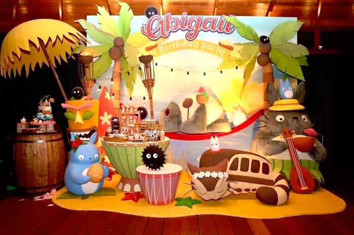 fiesta para niños de totoro tropical