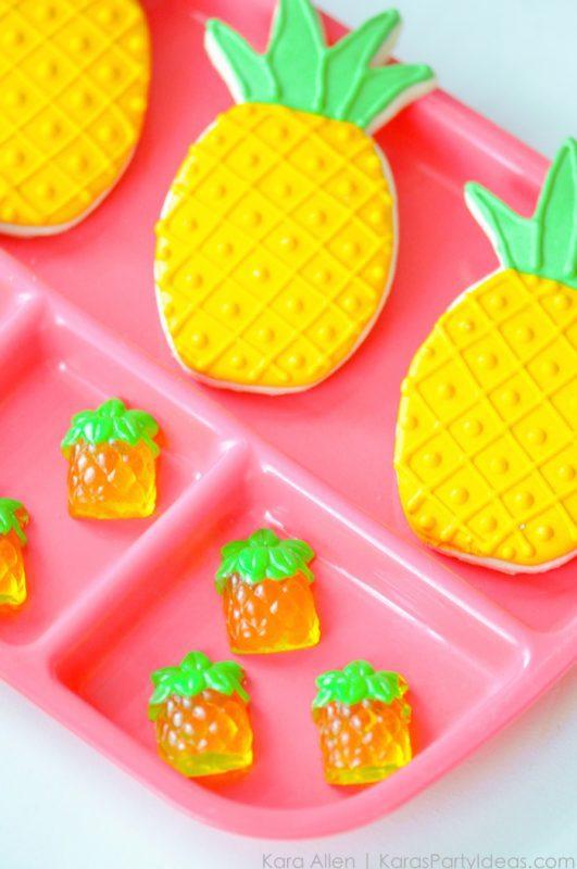 galletas de piña para fiesta infantil
