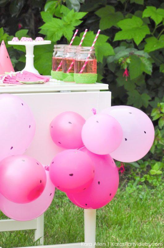 globos fiesta de la sandía