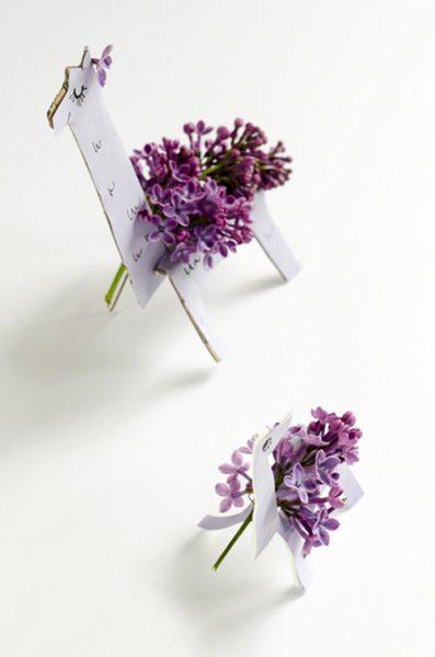 llamas de decoración floral