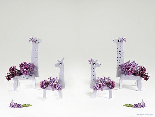 llamas para decoración con flores