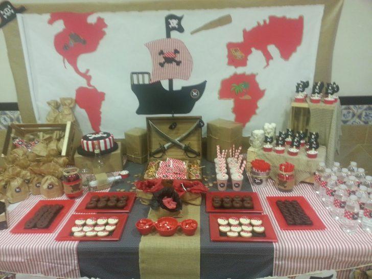 mesa dulce de fiesta pirata infantil