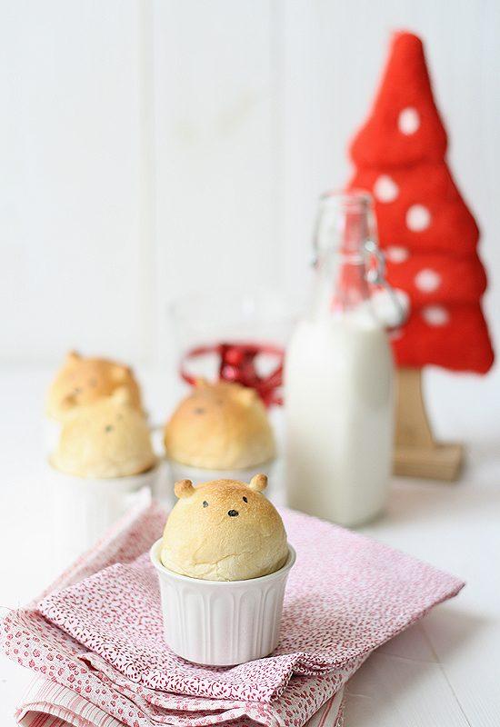 pan casero con forma de oso