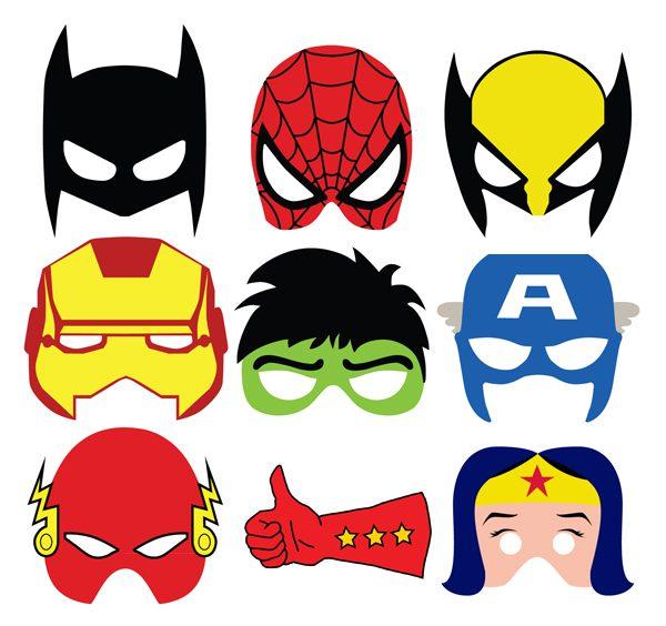 paquete de mascaras para fiestas infantiles imprimibles