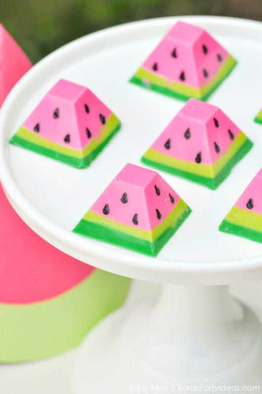 presentación dulces fiesta de la sandía para niños