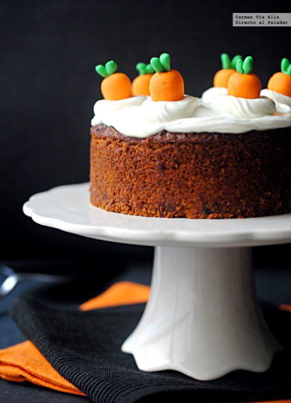 tarta de zanahoria sin gluten para fiestas infantiles
