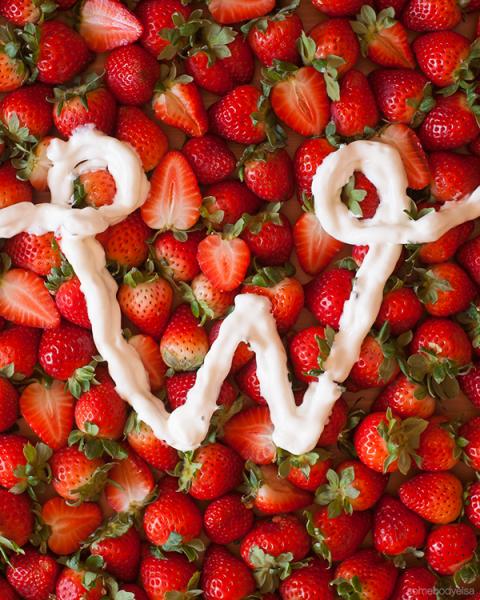 w - las letras en la comida para decorar