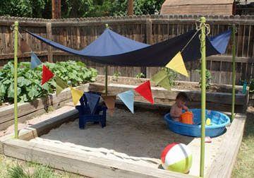 15 ideas para decorar el jardín con niños