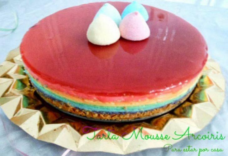 7 tartas frías que no necesitan horno - arco iris