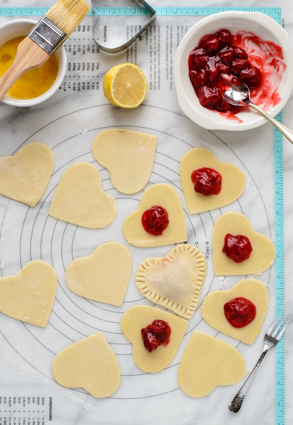 Receta de Empanadillas de Fresa en Forma de Corazón