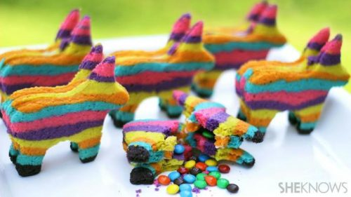 Receta de Galletas Piñata Multicolor