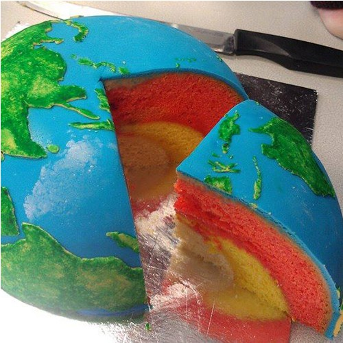 Tartas de Cumpleaños: Tarta de Planeta Tierra