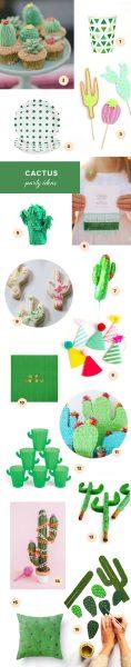 16 Artículos para Preparar una Fiesta de Cactus