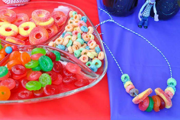 collar de frutas para fiestas infantiles niños