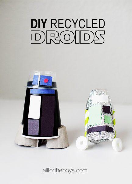 Manualidades Recicladas: Droides de Star Wars