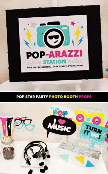 photobooth para fiesta de música