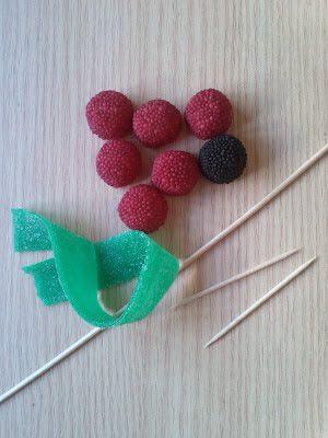 qué necesitas para hacer flores de gominolas