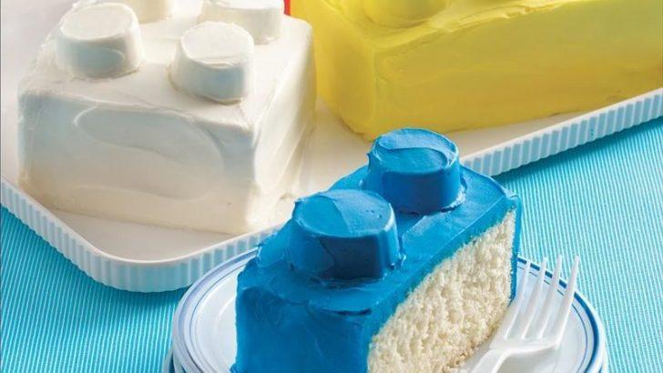 tarta de bloques de lego para cumpleaños de niños