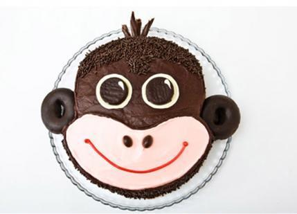 tarta de monito para fiesta de cumpleaños infantil