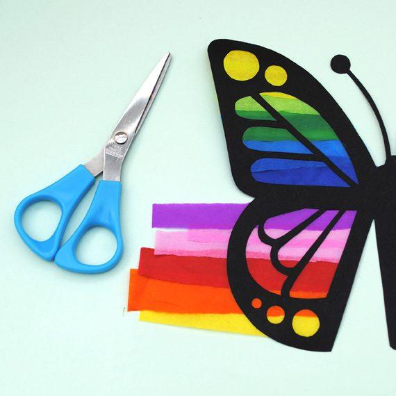 atrapasol de mariposa para los peques