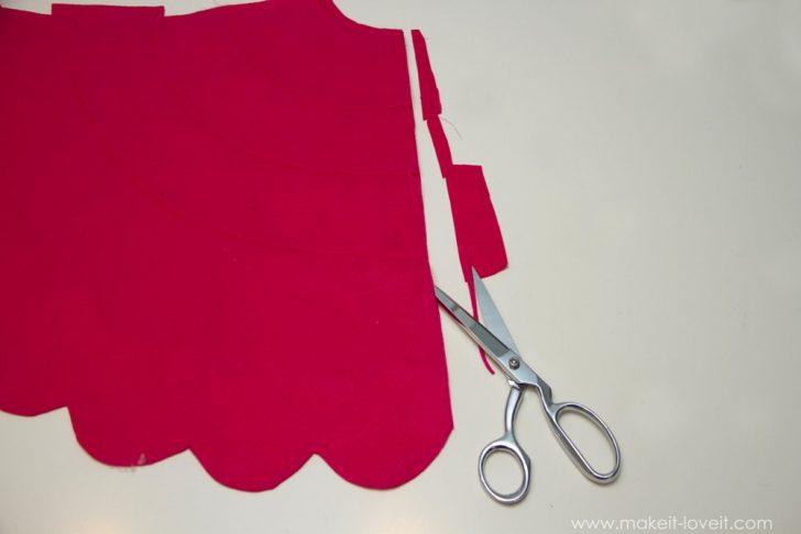 disfraz de flamenco para todas las edades la capa paso a paso cortar los bordes