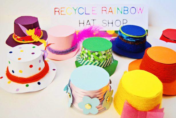 Manualidades Recicladas: Sombreros con Tarros de Yogurt