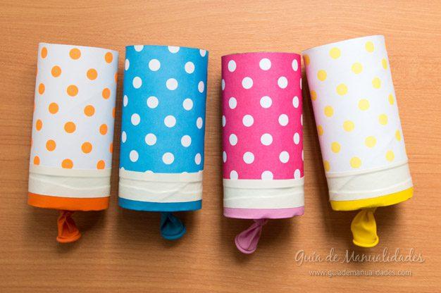manualidades recicladas lanza papeles