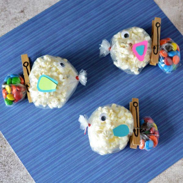 Bolsas de Chuches en Forma de Pez Hechas en Casa