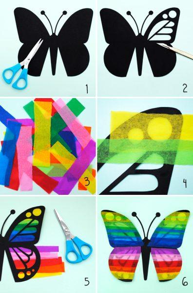 paso a paso de mariposa atrapasol para peques moviles para ventanas