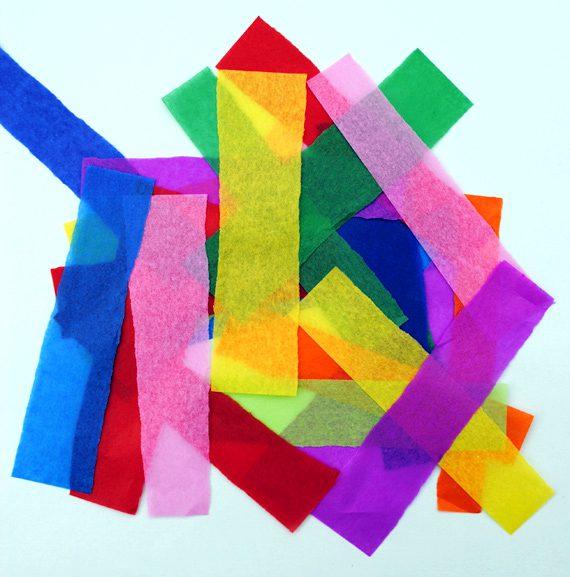 tiras de papel para suncatcher atrapasol para niños