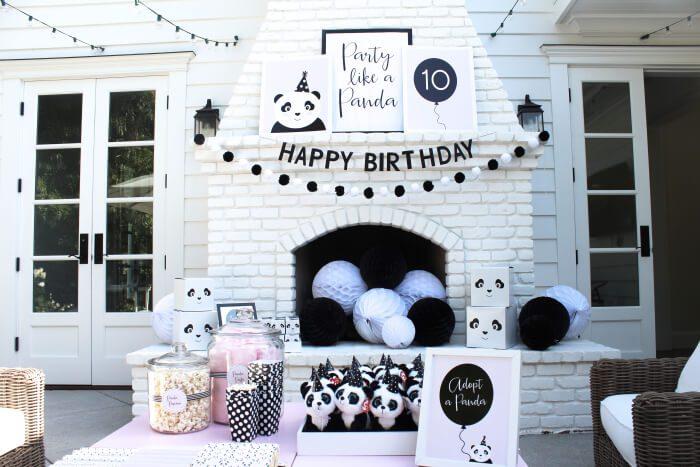 Fiesta Temática Infantil de Pandas