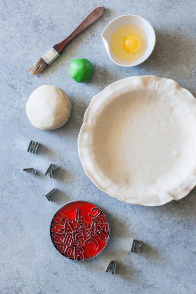 Materiales tarta alfabeto