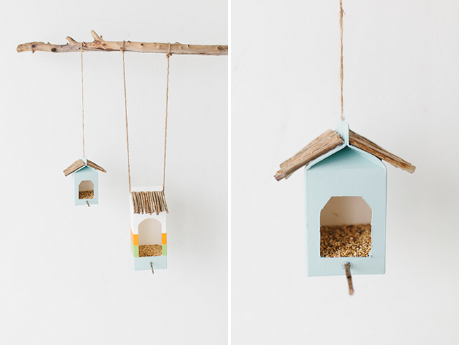 casa de pájaros con materiales reciclados manualidades para niños