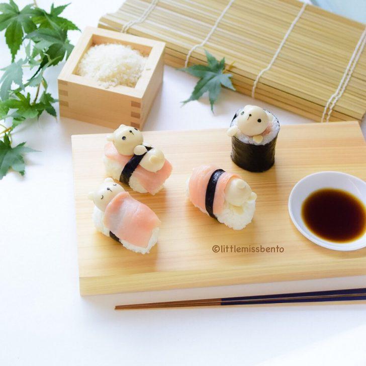 cuatro ideas de sushi para los peques